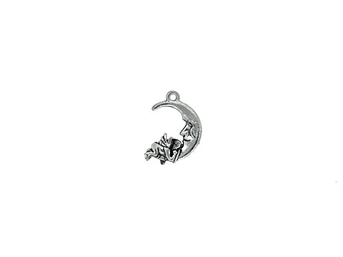 Moon and Cherub Charm 5 Pieces Per Pack