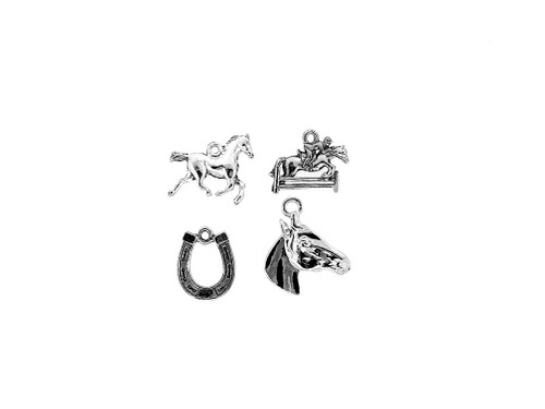 Horse Bundle Charm 4 Pieces Per Pack