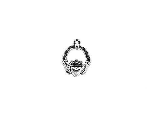 Irish Claddagh Charm 5 Pieces Per Pack