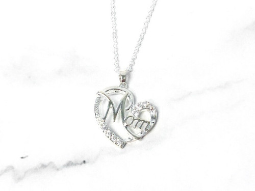 Mother's Day Heart Necklace | Silver or Gold