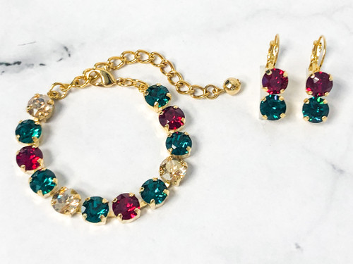Mistletoe Bracelet and Earring Set