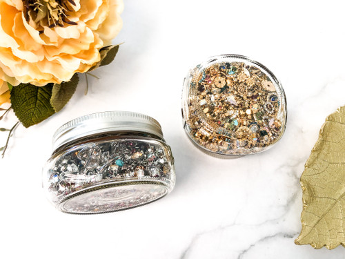 Closeout Mason Jar Assortment 1500+ Pieces of Swarovski Crystal Findings 2mm-6mm
