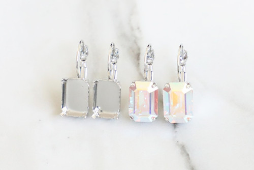 14mm x 10mm Octagon   Classic Drop Earrings   Three Pairs