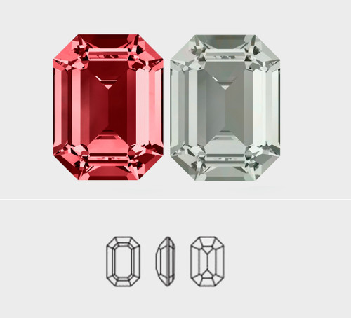 14mm x 10mm | Octagon | Swarovski Article 4610 | 3 Pieces