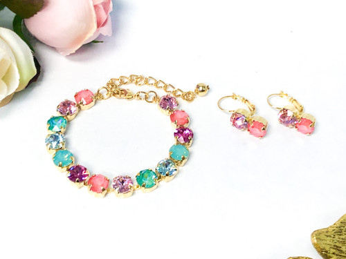 Flamingo Mingo Bracelet and Earring Set