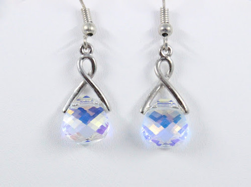 Tears of Sansa Earrings made with Briolette Swarovski Crystals