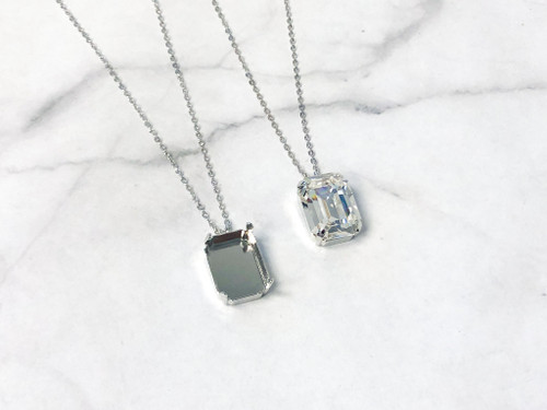 20mm x 15mm Octagon   Single Pendant On Necklace Chain   One Piece