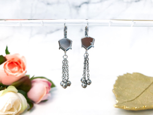 Limited Edition | 12mm Brilliant Trilliant Drop Earrings | One Pair