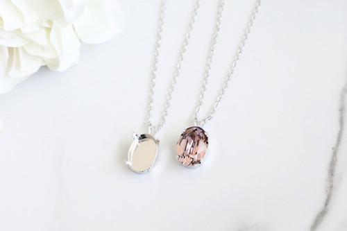 14mm x 10mm Oval | Single Pendant On Necklace Chain | One Piece