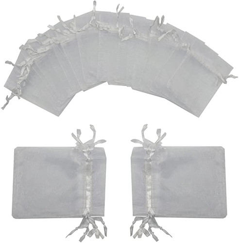 100 Pieces Light Grey Organzas