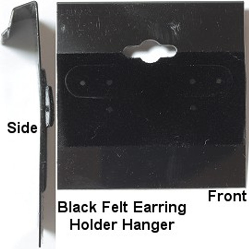 Earring Holder Hanger Black Velour | 1 Piece