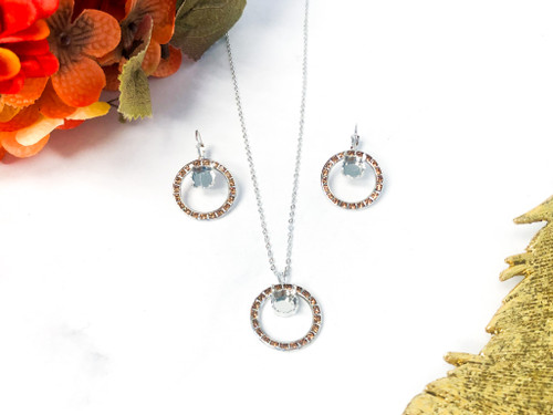 Circle of Hope Set made with Light Smoked Topaz Swarovski Crystals