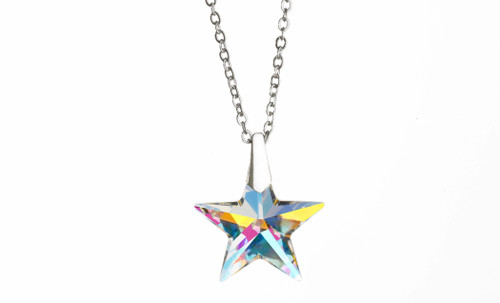 Star Pendant Necklace made with Swarovski Crystal AB