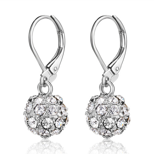 Fireball Drop Earrings | Rhodium or Gold