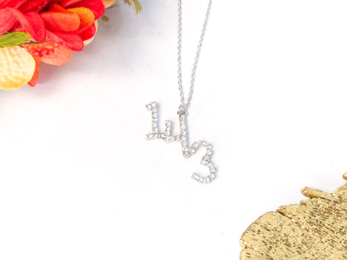 143 I Love You Rhinestone Necklace made with Swarovski Crystals