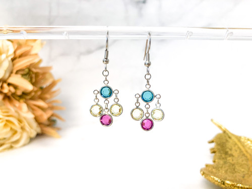Simple Chanel Chandelier Earrings made with Swarovski Crystals
