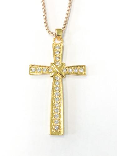 Simple Fancy Cross Necklace