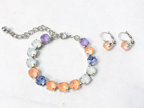 Orange Symphony Bracelet and Earring Set