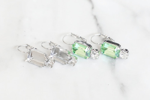 6mm & 14mm x 10mm Octagon | Drop Earrings | One Pair