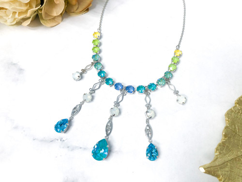 One of a Kind Necklace made with Swarovski Crystals