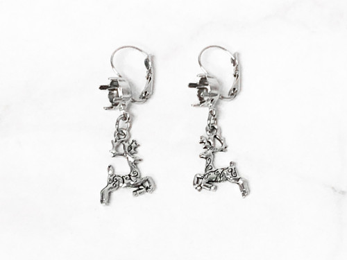 8.5mm | Reindeer Drop Earrings | One Pair