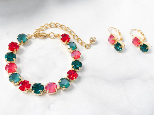 Royal Christmas Bracelet and Earring Set