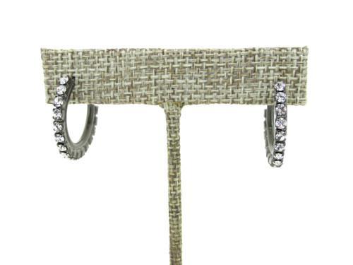 Mini Crystal Hoop Earrings | One Pair