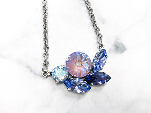 Island Moonlight Cluster Necklace