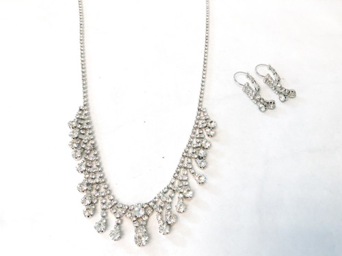 One of a Kind | Rhinestone Necklace and Earring Set