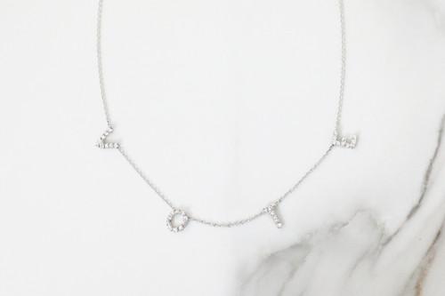 VOTE Crystal Rhinestone Necklace | One Piece