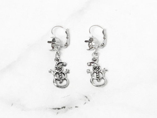 8.5mm | Snowman Drop Earrings | One Pair