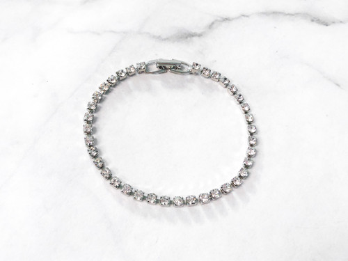 Crystal Tennis Bracelet made with Swarovski Crystals