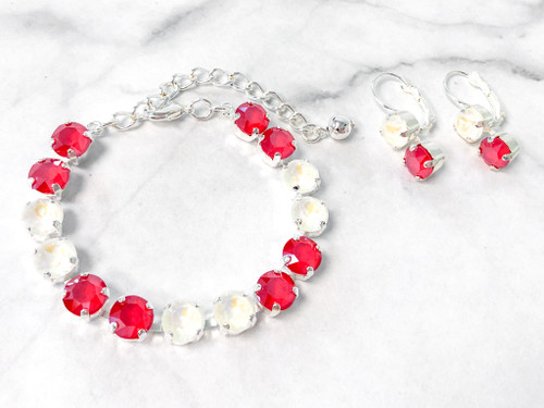 Candy Cane Bracelet and Earring Set