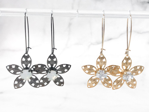 2 Pairs | Limited Edition Floral Filigree Earrings | Finished