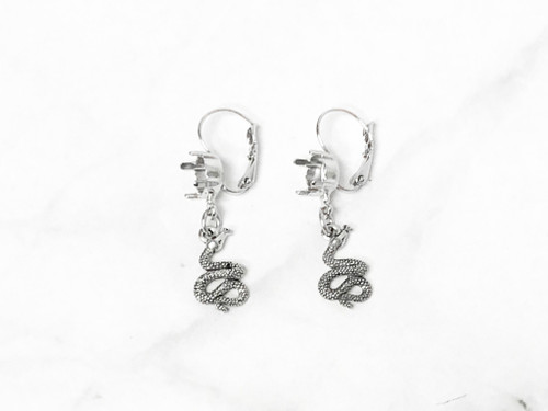 8.5mm | One Setting Drop & Snake Charm Earrings | One Pair