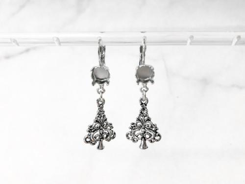 8.5mm | Swirl Christmas Tree Drop Earrings | One Pair