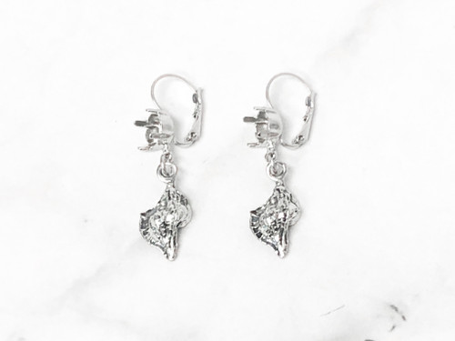 8.5mm   One Setting Drop & Shell Earrings   One Pair