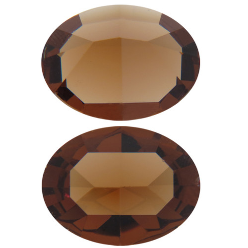 Limited Edition | 18mm x 13mm | Oval | Swarovski Article 4120 | Light Smoked Topaz Unfoiled | 3 pieces