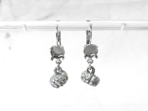 8.5mm | One Setting Drop & Fancy Pumpkin Charm Earrings | One Pair