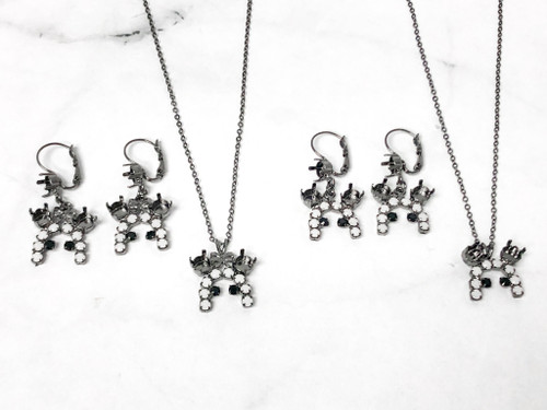 One of a Kind | Boy and Girl Mouse Ghost Earring and Neck Sets