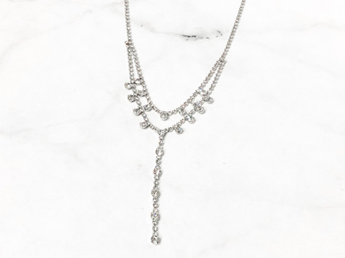 One of a Kind | Y Rhinestone Necklace
