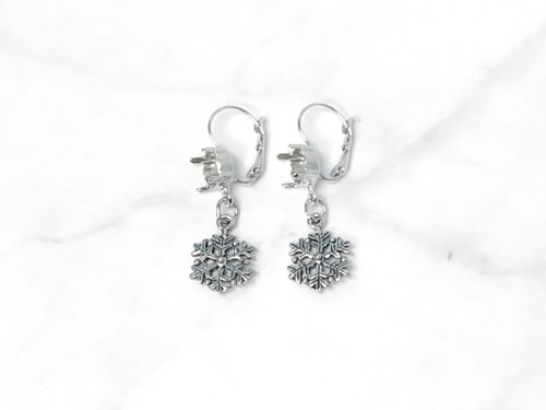 8.5mm | Fancy Snowflake Drop Earrings | One Pair