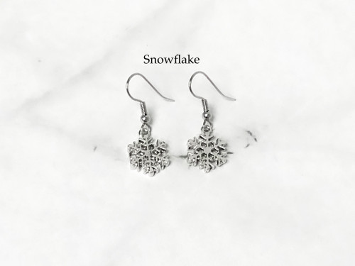 Holiday Charm Wire Earrings | Eleven Styles to Choose From | One Pair