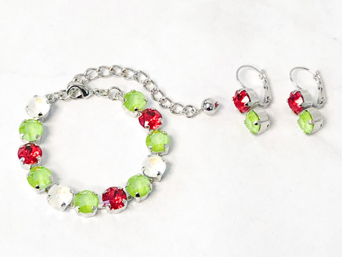 The Grinch Bracelet and Earring Set