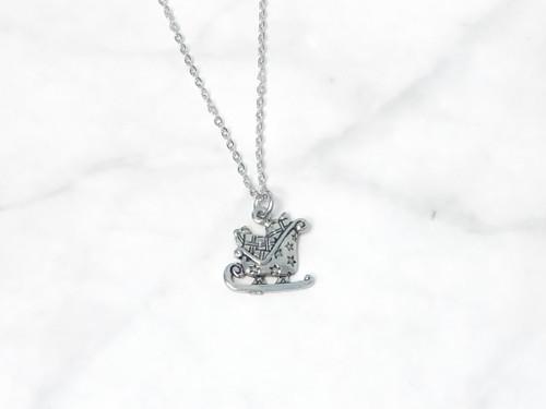 Santa Sled Charm Necklace | One Piece
