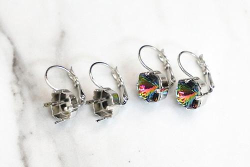 10mm MYSTIC Square | Drop Earrings | Three Pairs