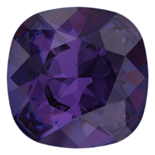 Limited Edition | 10mm | Square Cushion Cut | Swarovski Article 4470 | Purple Velvet | 3 Pieces