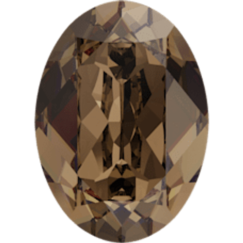 Limited Edition | 14mm x 10mm | Oval | Swarovski Article 4120 | Smoky Quartz | 3 Pieces