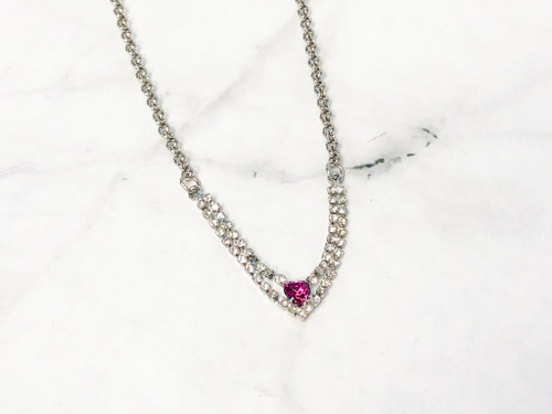 Fuchsia Enchanted Heart Necklace