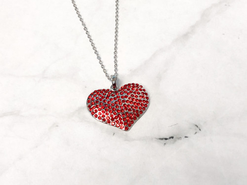 Red Statement Heart Necklace